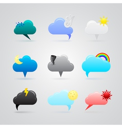 set of colorful weather icons vector image