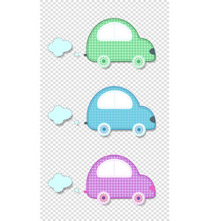 set of cute baby clip art cars for scrapbook kids vector image
