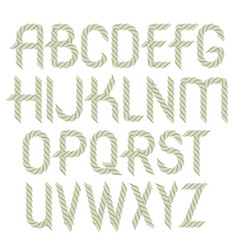 Set rounded upper case alphabet letters vector