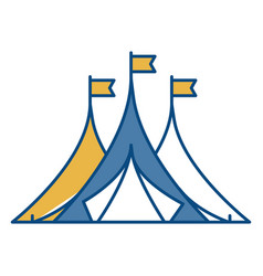 Shelter tents icon vector