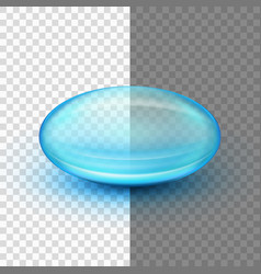 transparent soft gel capsule eps 10 vector image