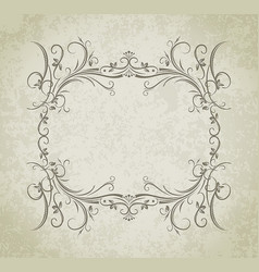 Vintage frame on grunge style background vector