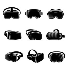 virtual reality helmet vr future technology vector image
