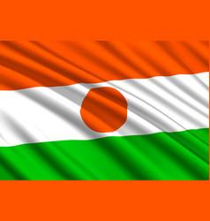 waving flag background vector image