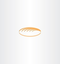 White bread logo icon vector