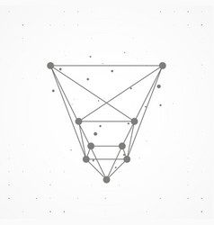 wireframe polygonal elements vector image