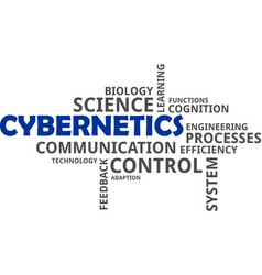 Word cloud - cybernetics vector