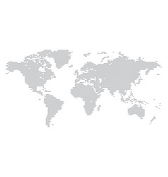 World map made gray dots vector