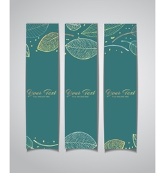 banners with autumn leaves vector image