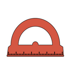 Color image cartoon red rule conveyor for school vector