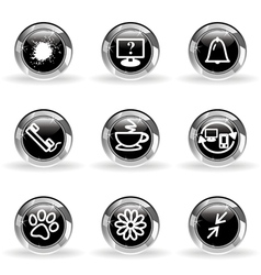 Glossy icon set 26 vector image vector image