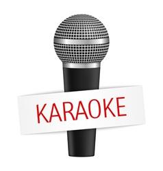 Karaoke banner with microphone eps10 illus vector image