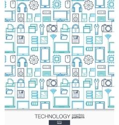 Technology wallpaper Digital seamless pattern vector image vector image