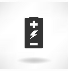 battery simple icon vector image vector image
