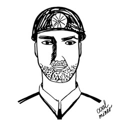 coal miner black and white vector image vector image