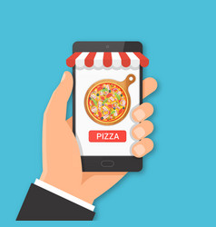 online pizza ordering concept vector image vector image
