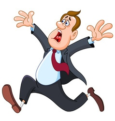 panicked businessman vector image vector image