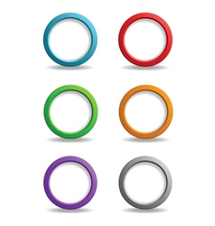 Set of colorful simple buttons vector image