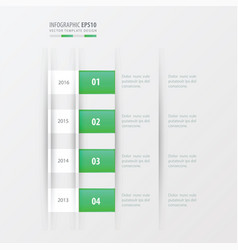 timeline design design green gradient color vector image vector image