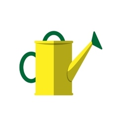 Watering can isolated on white vector image vector image