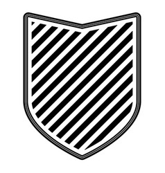 badge with striped in monochrome silhouette vector image