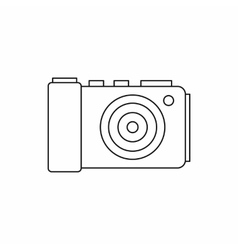 Camera icon in outline style vector image vector image