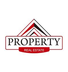 real estate property home building symbol vector image