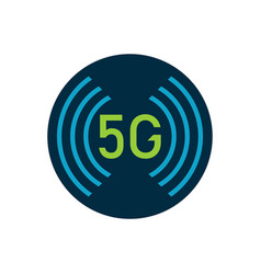 5g logo design high speed internet connection vector