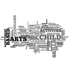 art based activities text word cloud concept vector image