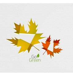 Autumn leaf on paper abstract background vector image