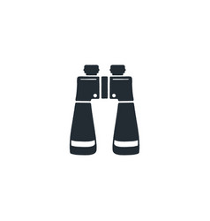 Binocular silhouette icon camping and hiking vector