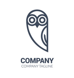 Black and white owl logo templates vector