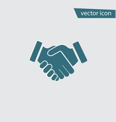 blue handshake icon isolated on background modern vector image