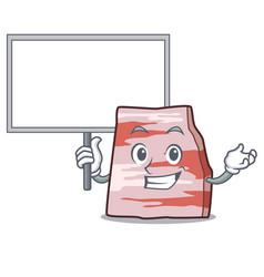 Bring board pork lard character cartoon vector