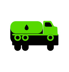 Car transports oil sign green 3d icon vector