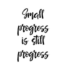 card with text small progress is still progress vector image