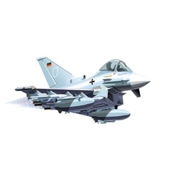 Cartoon Military Airplane vector