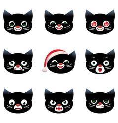 Cartoon smilies cats vector