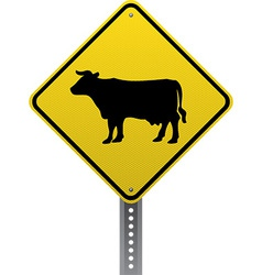 Cattle crossing sign vector