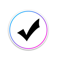 check mark icon on white background tick symbol vector image