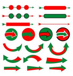christmas arrow icon set on white background vector image