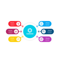 circles infographic with 6 options or steps vector image