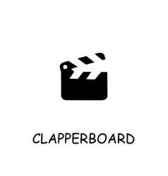 Clapperboard flat icon vector