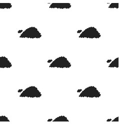Cloud icon in black style isolated on white vector