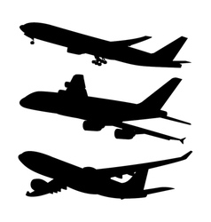 Commercial aircraft symbol shadow 1 vector