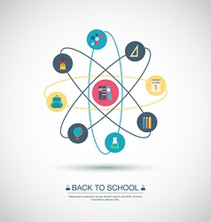 Concept Back to school Flat design vector image