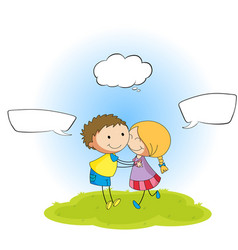 couple with speech balloon vector image