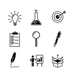 creativity research business idea development vector image