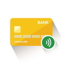 detailed golden credit card vector image