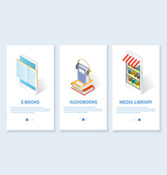 digital books website and mobile app vector image